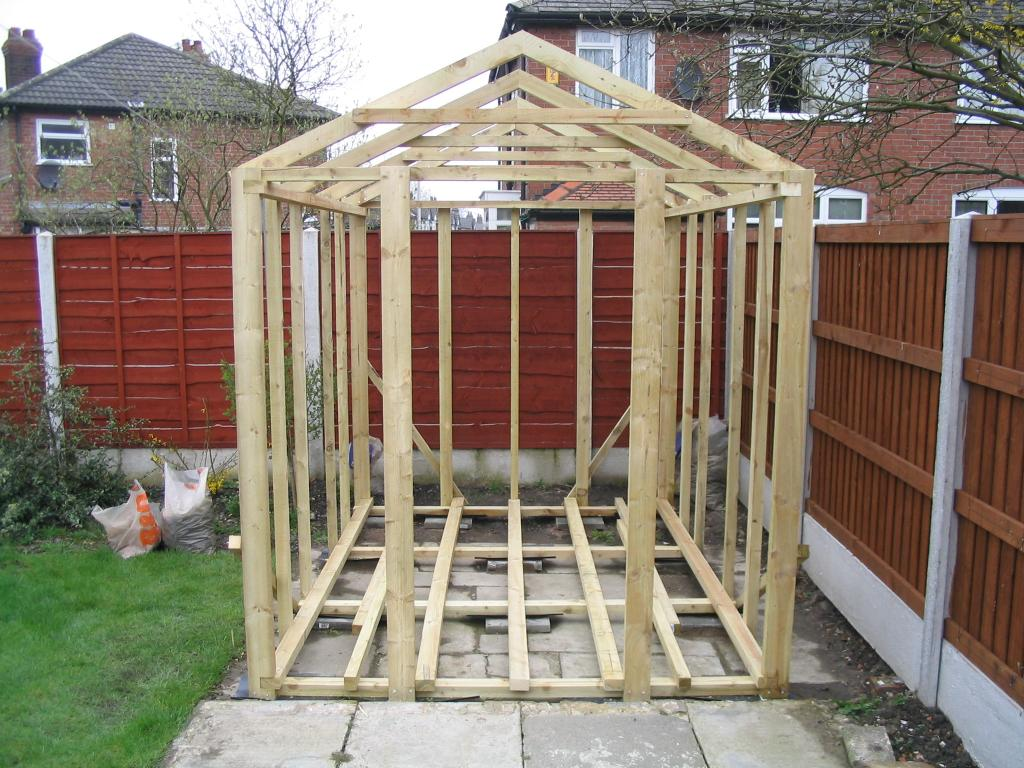 A Shed Built From Scratch